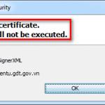 "Lỗi ""Failed to validate certificate"" và cách khắc phục"